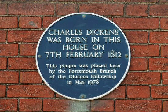 plaquecharlesdickensbirthplacemuseumportsmouth