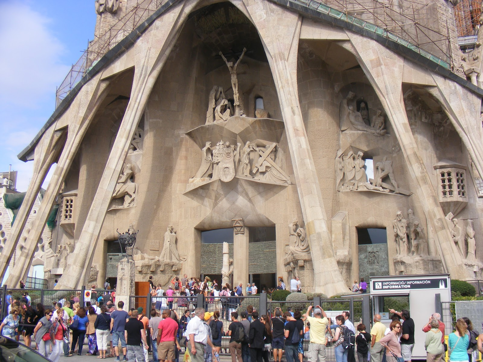 A Contrast Of Facades On Gaudi S Sagrada Familia Exploration
