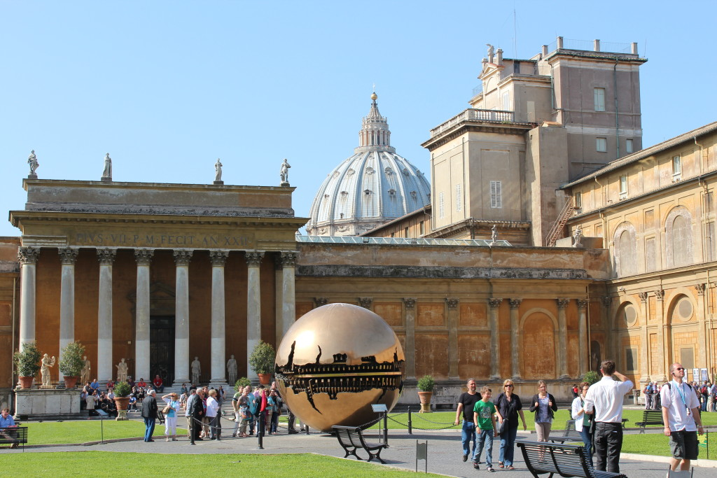 The Vatican Museum gardens are just as beautiful as the museum's contents. landoftheleprechaun.wordpress.com