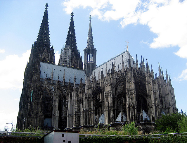 Cologne Cathedral is an imposing and impressive Gothic structure (Photographer: Christopher Eliot; Flickr)