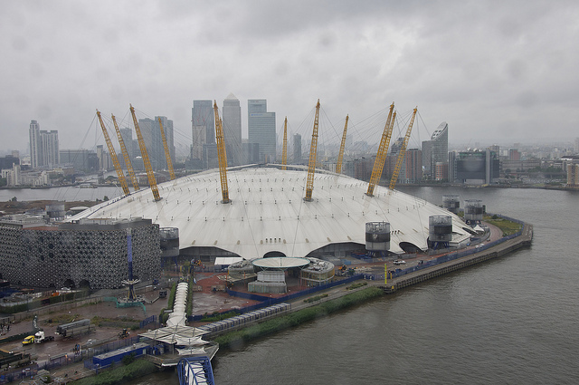 The 02 Arena, previously called the Millennium Dome (Photographer: Martin Pettitt; Flickr)