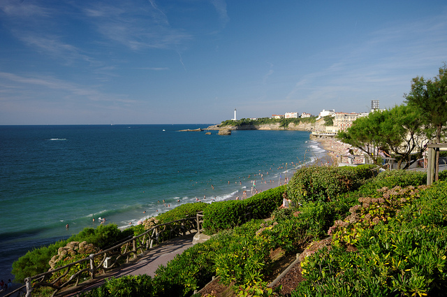 From Pamplona you can reach the French sea town of Biarritz.