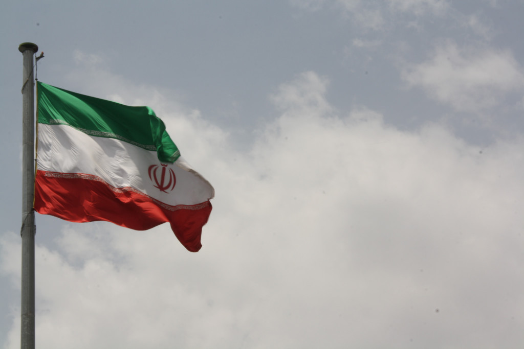 Iranian Flag. By Flikr user: Blondinrikard Fröberg