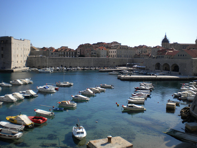 Dubrovnik's port: not a bad place to wake up after a long ferry journey! (Photographer: pablococko; Flickr)