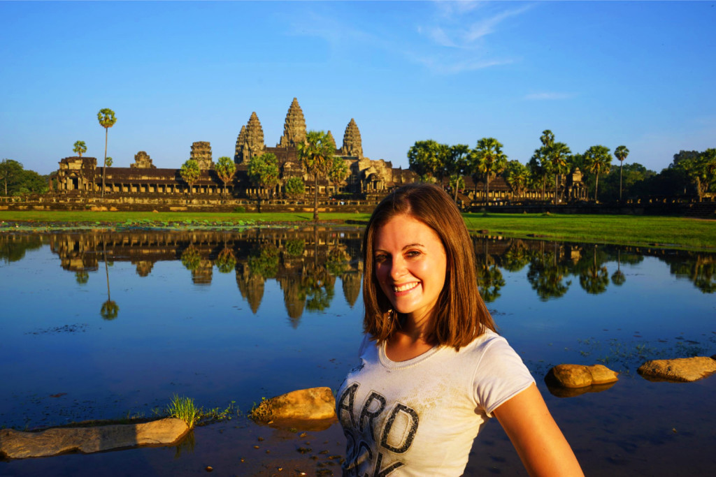 lauren at angkor wat