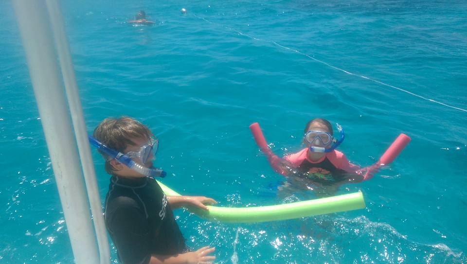 Jacqui's children enjoying the reef. Photo: writer's own